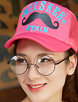Women 's Spring Summer Beard Print Baseball Cap Breathable Net Shade Hat