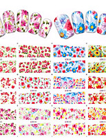 1pcs 12 design Autocollant d'art de clou Autocollants de transfert de l'eau Maquillage cosmétique Nail Art Design