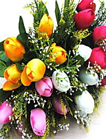 1 Branch Plastic Tulips Tabletop Flower Artificial Flowers