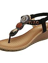Damen-Sandalen-Outddor Büro Kleid Lässig-PU-Keilabsatz-Komfort Neuheit