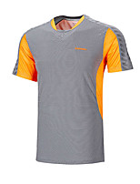 Men's Short Sleeve Running Tops Breathable Comfortable Summer Sports Wear Badminton Polyester Loose Patchwork