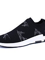 Men's Shoes Athletic Fabric Fashion Sneakers Black /Grey Fly Weaving Socks Shoes