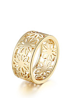 Ring Round Daily Casual Jewelry Gold Plated Ring 1pc,7 8 Gold