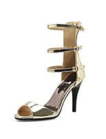 Women's Sandals Summer Comfort Gladiator Club Shoes Customized Materials Wedding Casual Party & Evening Stiletto Heel Buckle ZipperGold