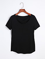 Women's Going out Cute Spring Summer Tank Top,Solid Strap Long Sleeve Cotton