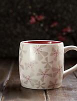 Cherry Blossoms Drinkware 355 ml Decoration Ceramic Juice Coffee Daily Drinkware