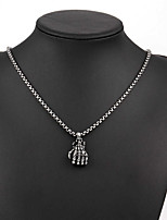 Men's Pendant Necklaces Titanium Steel Round Skull / Skeleton Basic Fashion Silver Jewelry Daily Casual 1pc