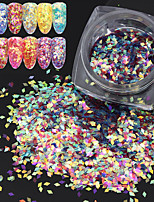 1 Box 2g  Fish Scale Nail Sequins Nail Art Glitter Rhombus Tips Manicure Nail Art Decorations