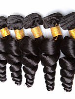 Natural Color Hair Weaves Brazilian Texture Loose Wave 12 Months 5 Pieces hair weaves