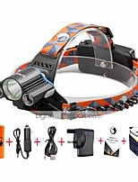 U'King ZQ-X806BL#-UK Cree XM-L T6 LED 6000LM 4 Mode Headlamps Kits Camping/Hiking/Caving Everyday Use Cycling/Bike Hunting Traveling Multifunction