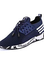 Для мужчин-Для прогулок Повседневный Для занятий спортом-Тюль-На плоской подошве-Удобная обувь Светодиодные подошвы-Кеды