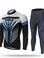 XINTOWN Cycling Jersey with Tights Men's Long Sleeve Bike Pants/Trousers/Overtrousers Tracksuit Zip Top Jersey Tops BottomsQuick Dry
