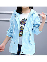 Girl's Going out Solid Suit & Blazer,Cotton All Seasons Long Sleeve