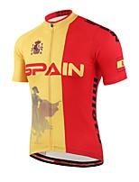 Miloto Cycling Jersey Unisex Short Sleeve Bike Lightweight Materials Sweat-wicking Comfortable Jersey Coolmax Spring Summer Fall/Autumn