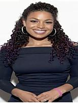פאת תחרה מלאה שיער אדם בתול ברזילאית פאה מתולתלת קינקי לנשים אפריקניות אמריקניות