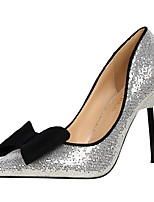 Women's Heels Spring Summer Fall Winter Club Shoes Comfort Glitter Wedding Party & Evening Dress Stiletto Heel Bowknot Sequin Walking