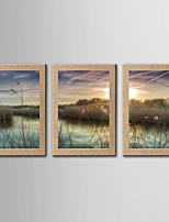 Estampado Giclée Famoso Paisagem Clássico Realismo,3 Painéis Panorâmico Vertical Impressão artística Decoração de Parede For Decoração