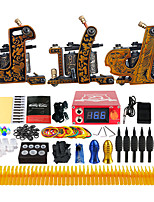Solong Tattoo Complete Beginner Tattoo Kit 3 Pro Machine Power Supply Needle Grips TKC03