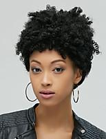 Women Short Wig Black Kinky Curly Synthetic Wigs For Black Women