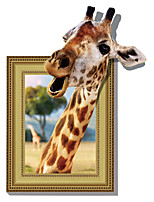 3D Wall Stickers Wall Decals Style Funny Giraffe PVC Wall Stickers