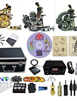 Kit de tatouage complet 3 machine x tatouage en alliage pour la doublure et l'ombrage 3 Machines de tatouage Source d'alimentation LED