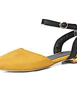 Черный Серый Желтый Красный Зеленый-Для женщин-Для прогулок Для праздника Повседневный-Полиуретан Флис-На плоской подошвеСандалии