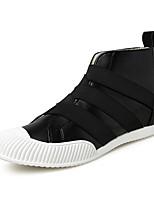 Running Shoes Men's Fashion Casual Shoes EU39-44 Hight-top Microfiber Board Flats Shoes Black Red Blue