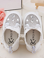 Baby Flats Spring Fall Comfort Leatherette Outdoor Casual Flat Heel Magic Tape White Pink Walking