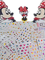1set 77pcs Mixed Lovely&Colorful Cartoon Image Expression Mickey Design Nail Art Watermark Sticker Water Transfer Decals Nail Decoration