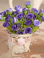 1 Une succursale Polyester Rotin Fleur séchée Roses Fleur de Table Fleurs artificielles 16*15