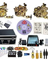Complete Tattoo Kit 3 G3Z11Z4Z5 Machines Liner & Shader Dual LED Power Supply