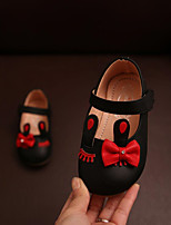Baby Flats Spring Fall First Walkers Leatherette Outdoor Casual Low Heel Magic Tape White Black Pink Walking