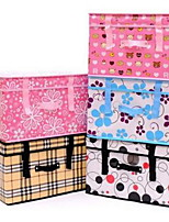 Storage Boxes Storage Units Storage Baskets Textile withFeature is Lidded  For Underwear Cloth Random Pattern And Color