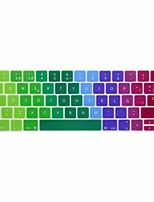 xskn® pele colorida teclado de silicone espanhol europeu e protetor barra de toque para 2016 mais novo MacBook Pro de 13,3 / 15,4 com