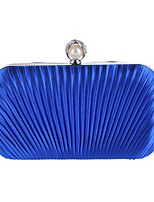 L.WEST Woman Fashion Ruffles Pearl Evening Bag