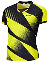 Homme Manches courtes Course / Running Hauts/Tops Respirable Confortable Eté Vêtements de sport Badminton Polyester AmpleFuchsia Fruit
