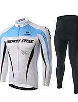 XINTOWN Maillot et Cuissard Long de Cyclisme Homme Manches longues Vélo Pantalon/Surpantalon Survêtement Haut Zippé Maillot Hauts/Tops Bas