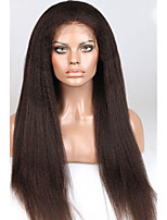 8A 8-26inch Free Part Glueless Lace Front Wigs Yaki Straight Brazilian Human Hair Lace Wig For Woman with Baby Hair
