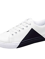 Men's Sneakers Flats Shoes Fashion Microfiber Leather Black White Shoes