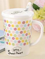 Colori Artigos para Bebida, 350 ml Simples padrão geométrico Cerâmica Café Leite Copos
