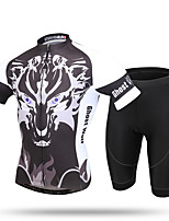 XINTOWN Cycling Jersey with Shorts Men's Short Sleeve BikeBreathable Quick Dry Ultraviolet Resistant Moisture Permeability Anti-Insect