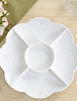 1 Pcs Ceramic Dinner Plate Dinnerware Five-dish Round Fruit Plate