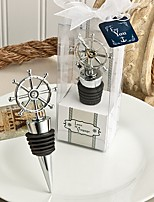 Ship's Wheel Nautical Wine Bottle Stoppers Beter Gifts® Life Style