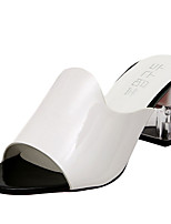 Femme-Extérieure-Blanc Noir-Gros Talon Block Heel-Confort-Chaussures à Talons-Polyuréthane