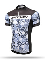 XINTOWN Men's Short Sleeve Bike Breathable Quick Dry Back Pocket Sweat-wicking Comfortable Tops Terylene Spring Summer Fall/Autumn