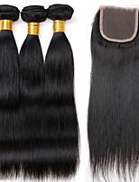 One Pack Solution Cheveux Brésiliens Droit 12 mois 4 Pièces tissages de cheveux