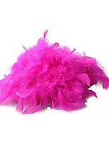 Women's Slippers & Flip-Flops Summer PU Outdoor Casual Flat Heel Feather White Black Yellow Fuchsia Blushing Pink