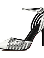 Heels Spring Summer Fall Club Shoes Cowhide Synthetic Office & Career Party & Evening Dress Stiletto Heel Silver Gold
