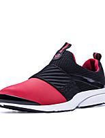Черный Серый Красный-Для мужчин-Для прогулок Повседневный Для занятий спортом-Полиуретан-На плоской подошве-Удобная обувь-Кеды