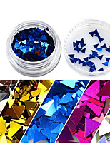 1 Bottle Nail Art Glitter Shiny Triangle Paillette Nail Sparkly Decoration 3D Thin Clear Tips For Manicure Polish Beauty Optional SJ01-08